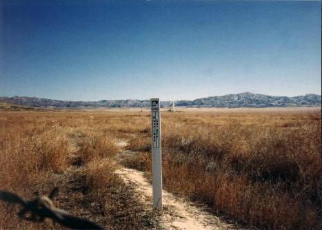 Hastings Cut-off Trail - Granite Marker.