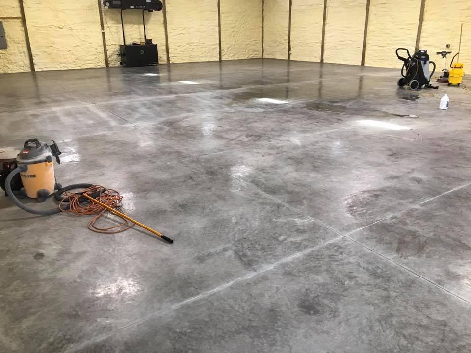 Concrete Sealing Garage Floors-Before