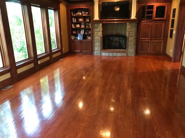 Sandless Hardwood Floor Refinishing-Kansas City-Heart & Oak