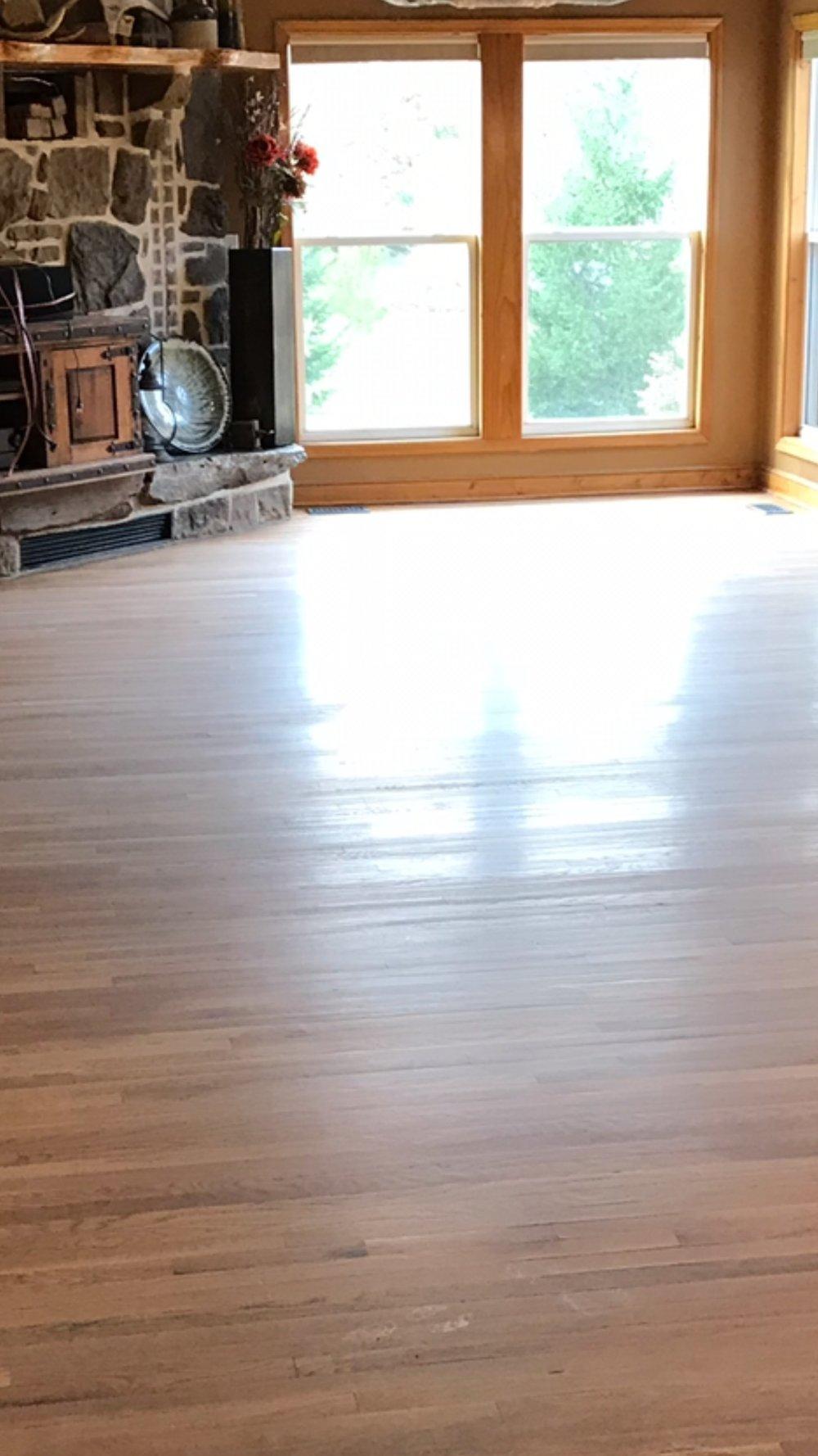 Hardwood Floor Refinishing Before
