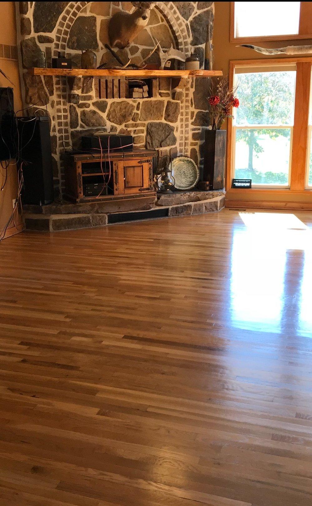 Hardwood Floor Refinishing After