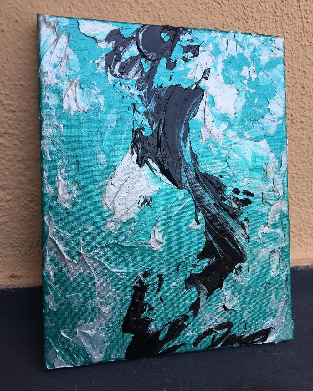Teal in Ice 2017 - SOLD