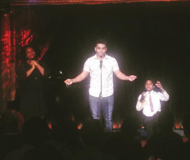 Performing our latest original piece onstage at The Cutting Room for the @thekylejeanbaptistefoundation A magical evening for a wonderful event! . . . #theatre #nyc #thecuttingroom #acting #performing #drama