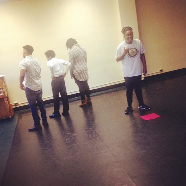 Hard at work - putting our final touches on for our performance tonight for @thekylejeanbaptistefoundation !!! . . . #rehearsal #theatre #nyc #drama #theater #acting #performing #writing #directing #broadway