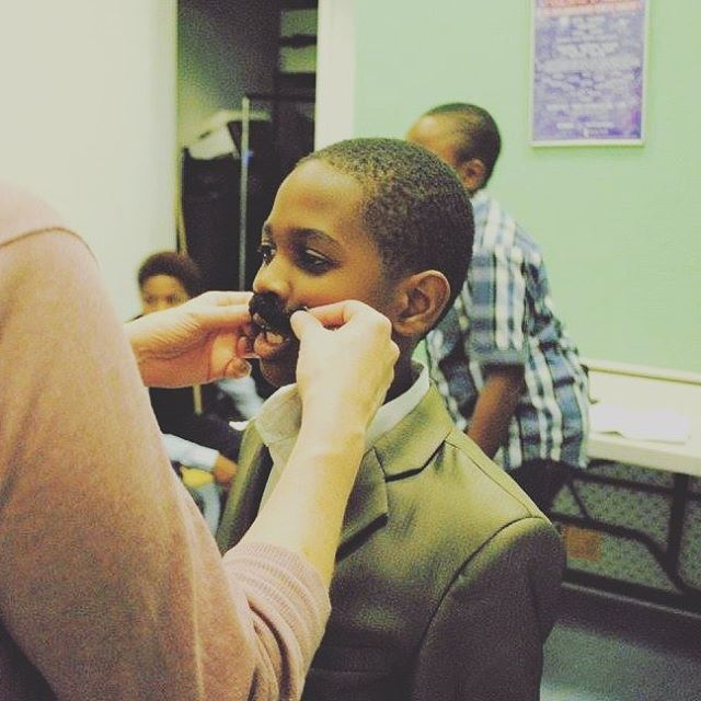 Missing this mustache face!  #brooklynyouthcompany #theatrefamily #dusttodust #cutestmustache