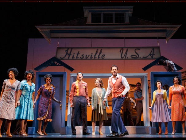 Motown: the Muscial on Broadway, featuring the music of Diana Ross, Smokey Robinson, and The Jackson 5.