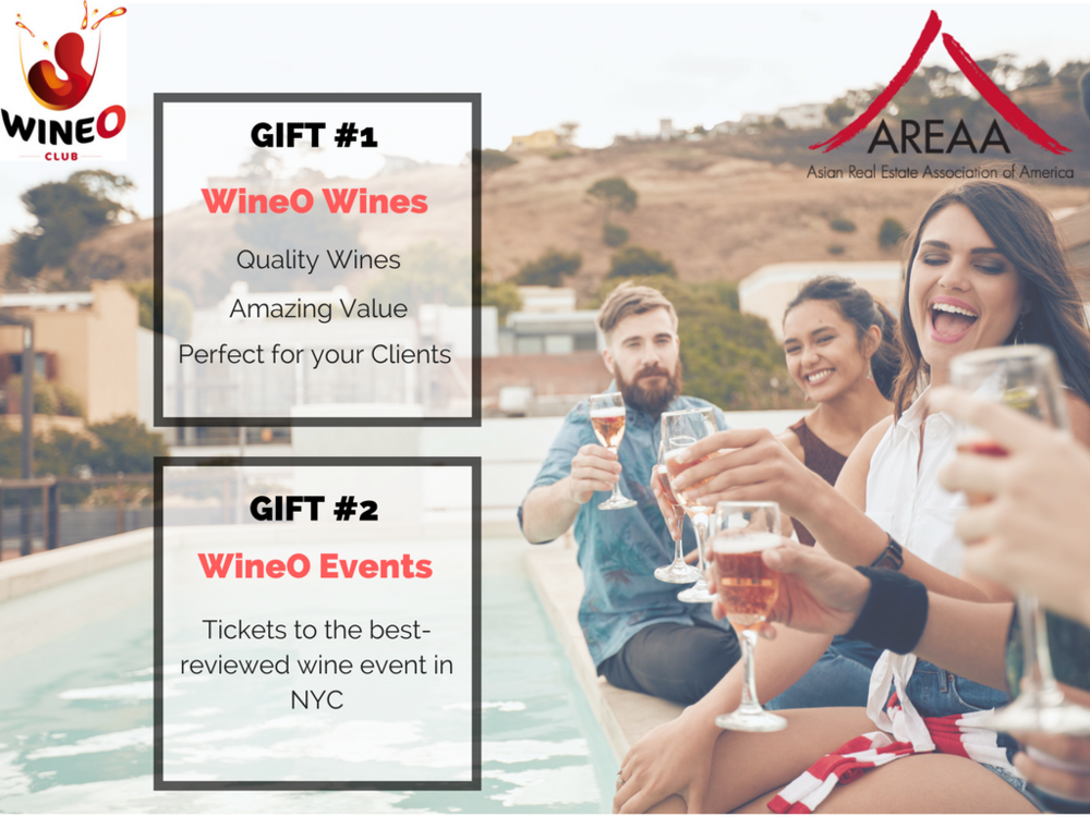 PERFECT GIFT for CLIENTS - Gift #1 - WineO Wines    *Quality wines, Amazing Value, Perfect for your ClientsGift #2 - WineO Events     *Ticket to the #1 Wine Event in NYC