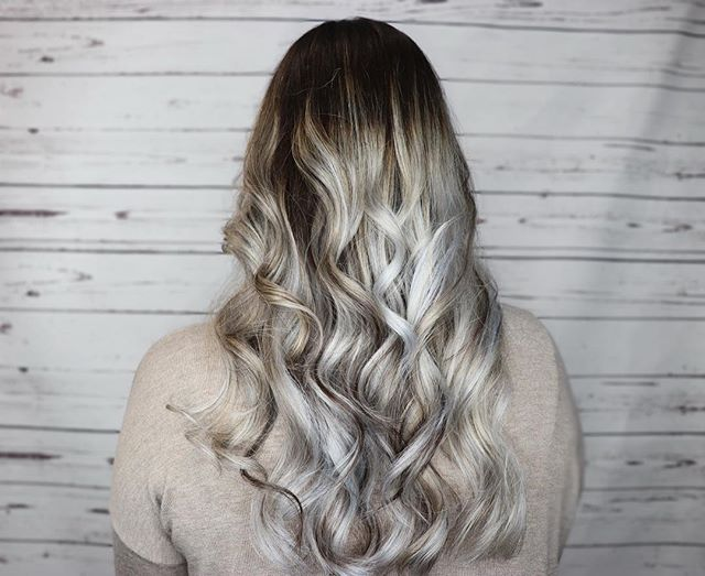 Silver fox! @raegaddystylist killed it with this color!! Took multiple sessions to get this light, patience is key👌 and her hair still feels amazing!