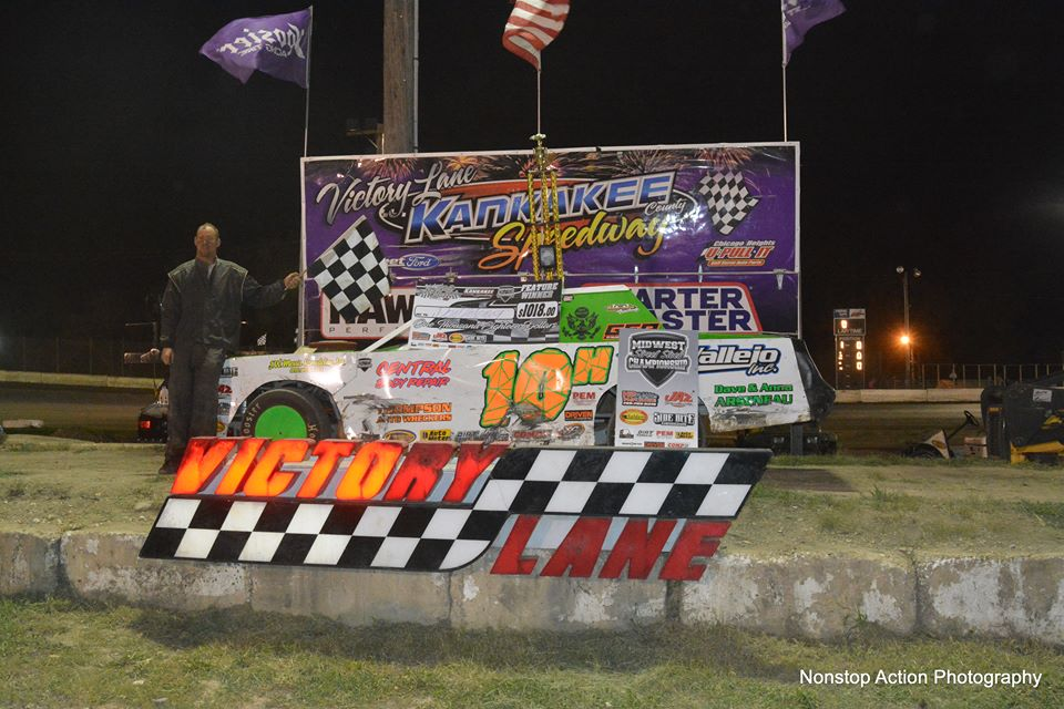 Don Hilleary in Victory Lane after capturing his first MSSC win  Nonstop Action Photography Photo