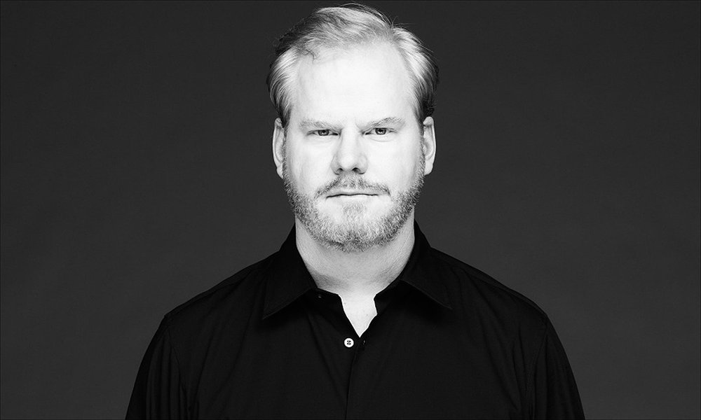 Jim Gaffigan    Jim Gaffigan is an American stand-up comedian, actor, writer, and producer. His humor largely revolves around fatherhood, observations, laziness, and food. Master of the deadpan. Visit his website for tour dates and news pertaining to Jim Gaffigan  http://www.jimgaffigan.com/
