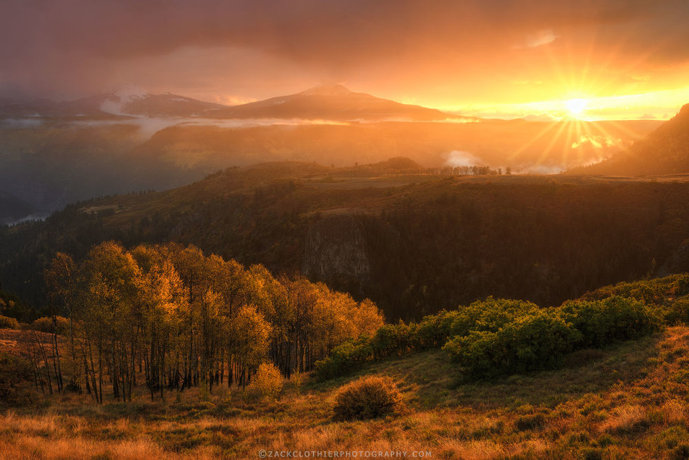 BUY PRINT   An intense autumn sunset over the San Juan Mountains near Telluride, Colorado.