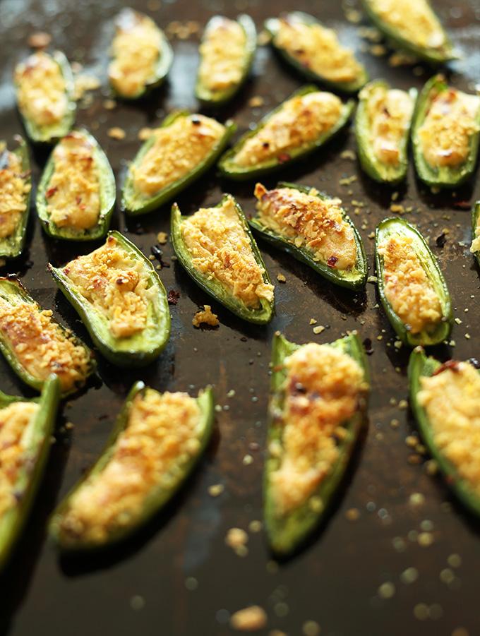 Vegan Jalapeno Poppers  via Minimalist Baker Salads