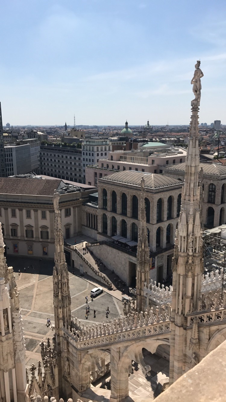 View of Milan from the Duomo terrace