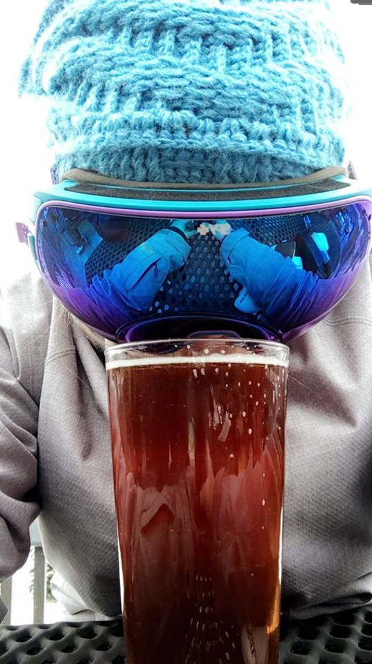 My friend taking a break from the slopes to taking an awesome selfie :)