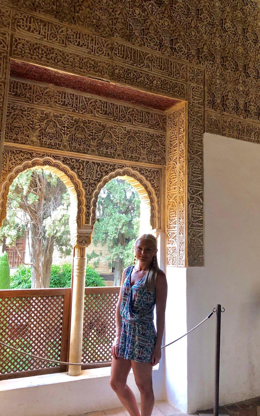 Wore this Romper to tour La Alhambra in Granada, Spain