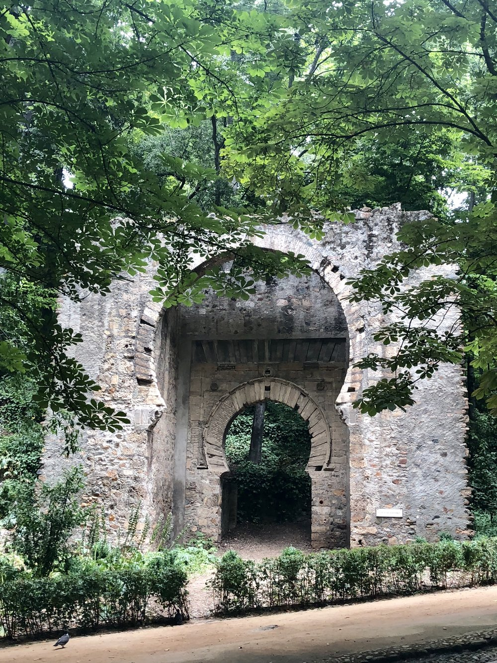 One of the still standing entrances to the fortress on the way to the city gate.