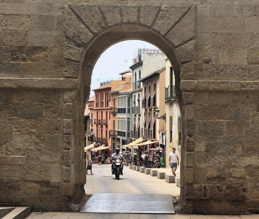 Entering the city of Granada