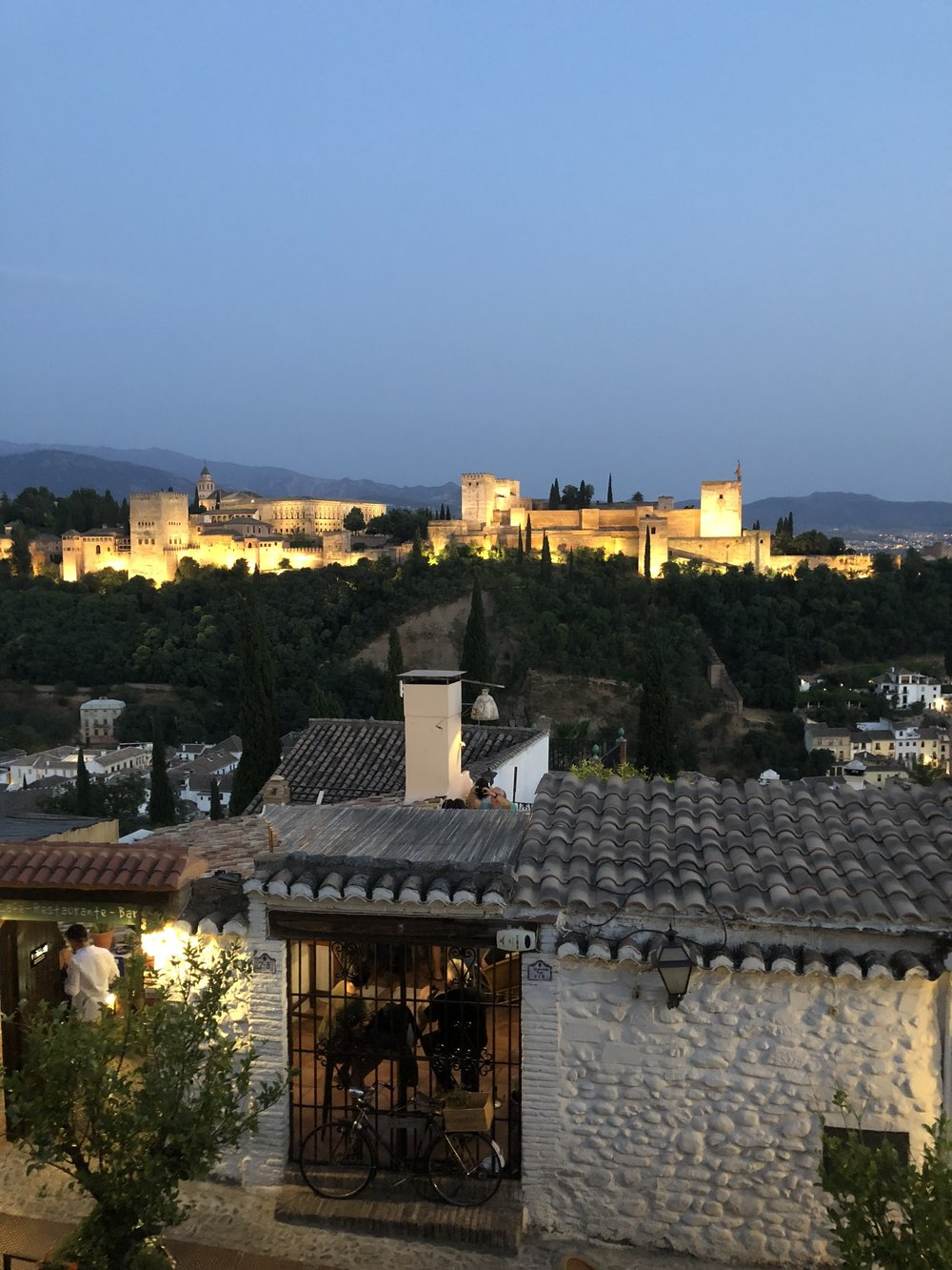 Evening view of La Alhambra