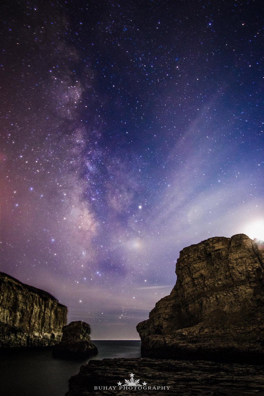 Shark Fin Cove Moonlit Milky Way