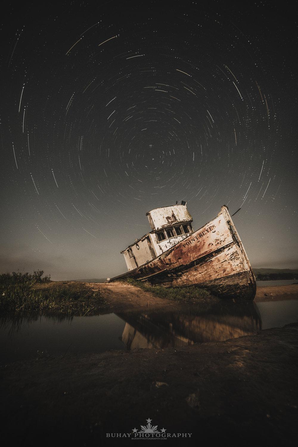 Point Reyes Shipwreck Star Trail