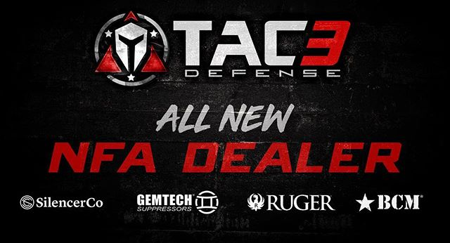 @tac3defense is now an NFA dealer. Contact us today for all your suppressor or SBR needs!  #nfa #sot #supressed #supressor #silencerco #customguns #tac3 #tac3defense #sbr #bravocompany