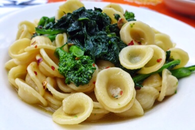Orecchiette with Broccoli Rabe and Sausages