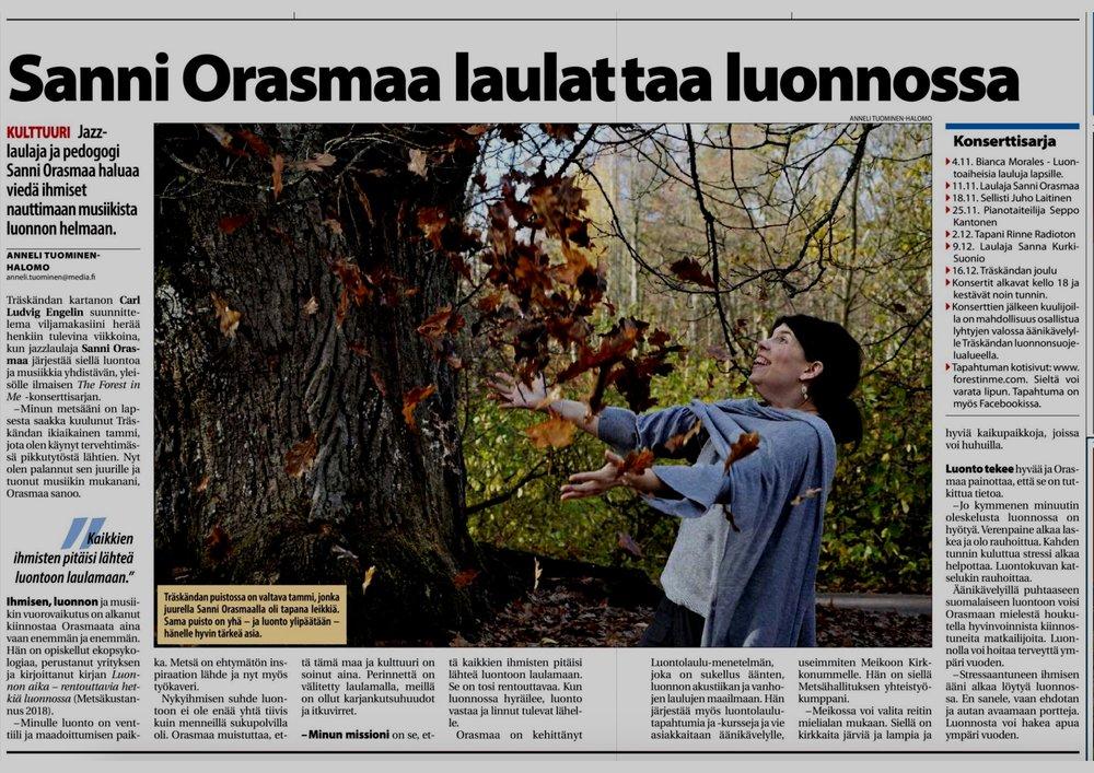 Länsiväylä - lehti - Haastattelu