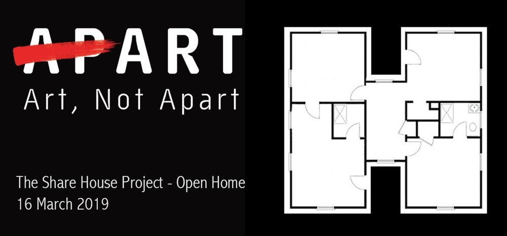 We are pleased to announce that The Share House Project has been selected for the  ART, NOT APART  festival in Canberra on Saturday 16 March!  THE SHARE HOUSE PROJECT - OPEN HOME is a participatory work inside an apartment on Kendall Lane, NewActon South. We invite you into our Open Home to play with hundreds of copies of the memory drawings generously shared by contributors. Help us map out the architecture of an enormous but impossible house! Hope to see you there.