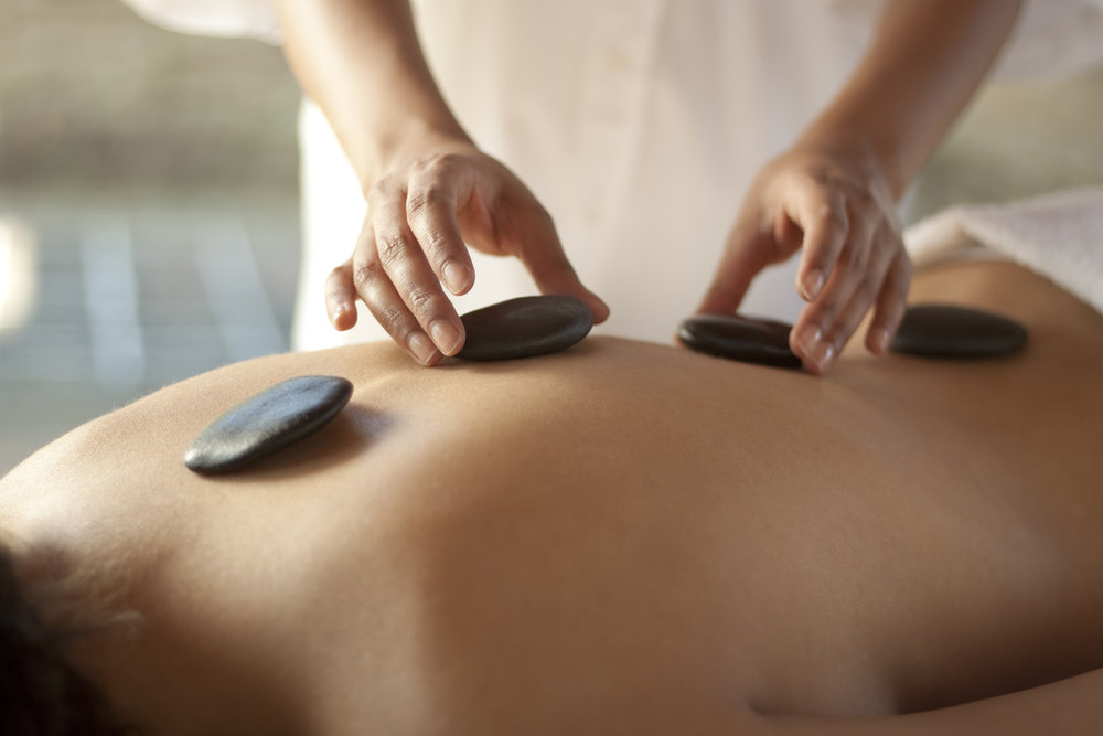 Hot Stone Massage  This massage uses smooth, heat retaining stones combined with Swedish and Deep Tissue techniques. The relaxing and sedating warmth from the stones allows the therapist to work deeper into the muscles, melting away the stress that has you in knots.    90 mins  $150    120 mins $210