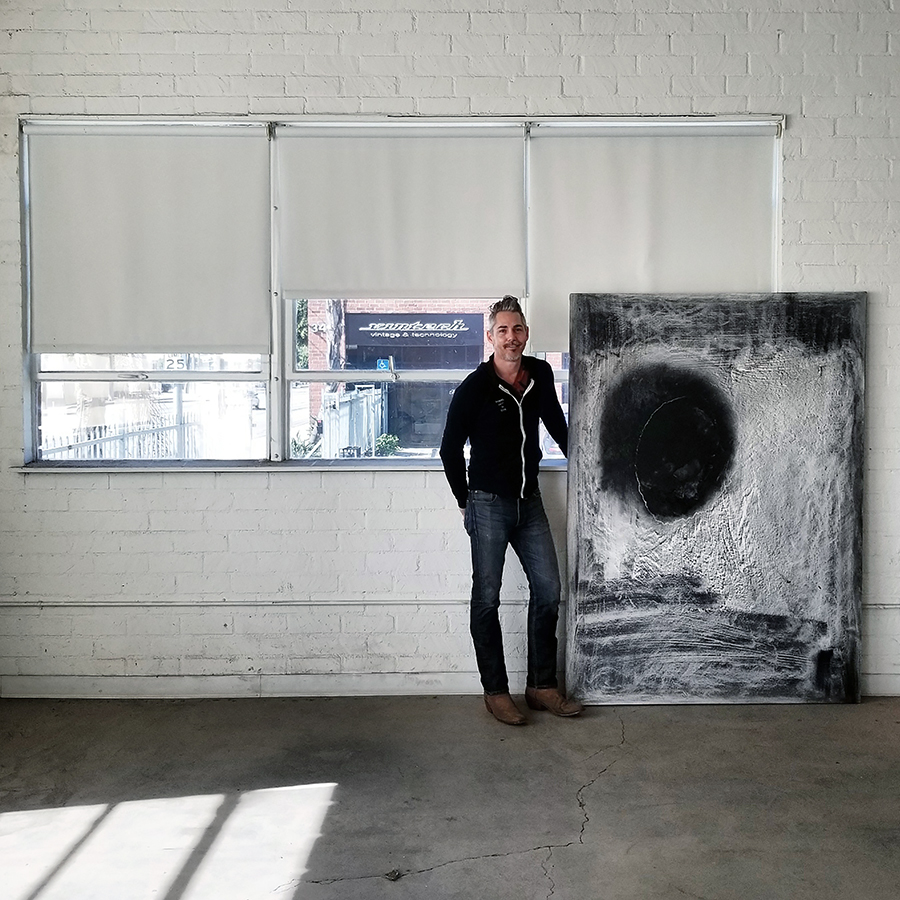artist and painter Jason Soltero in Hollywood, California, Los Angeles