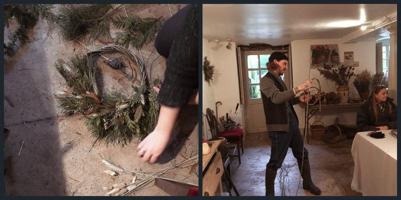 Wreath Workshop Collage