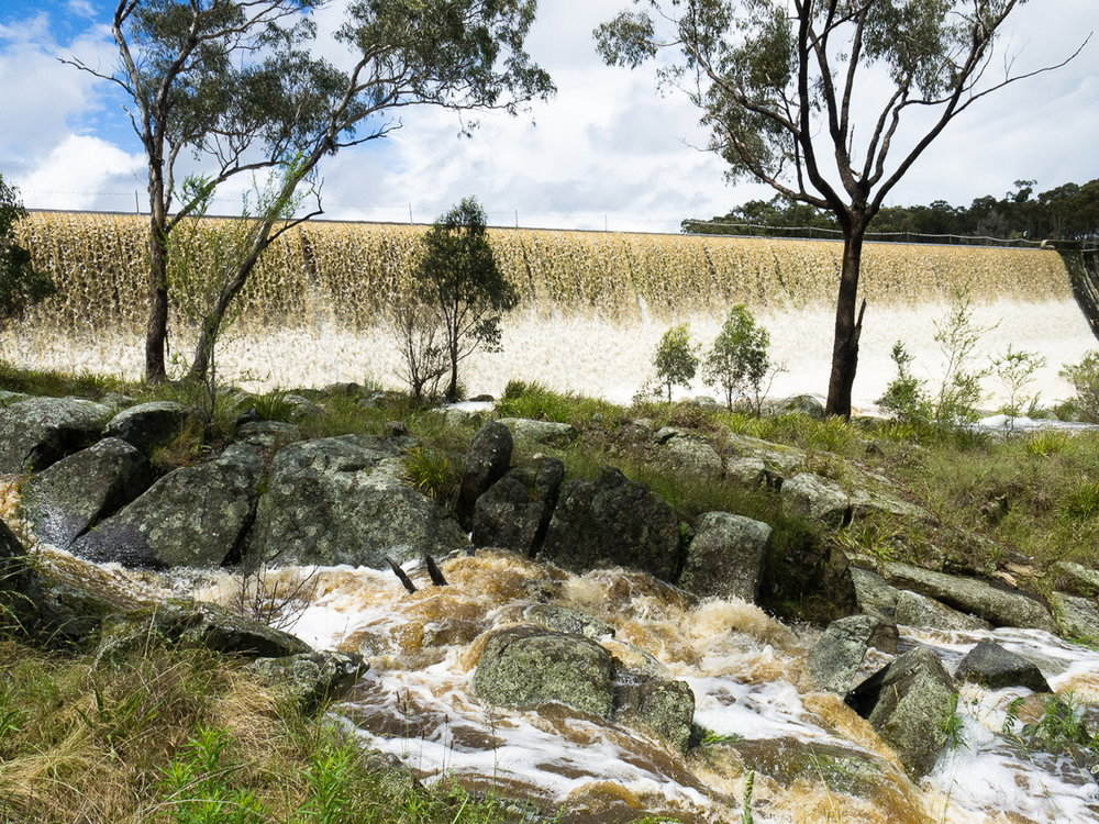 But, sometimes, there is an abundance of water - such as when Dumaresq Dam floods - November 2011