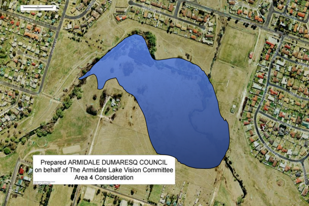 Candidate area 4 - north of O'Connor High School - proposed by Armidale Lake Vision committee in 2002