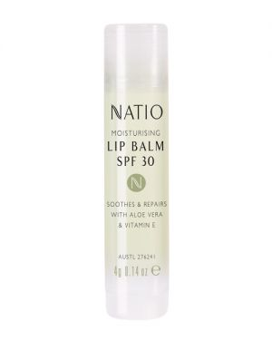 Because you can get freckles on your lips too! Before heading to the pool, beach or your daily run, make sure you smack on some lip balm with 50+ coverage to protect your lovely lips!   Natio Lip Balm, $4.95