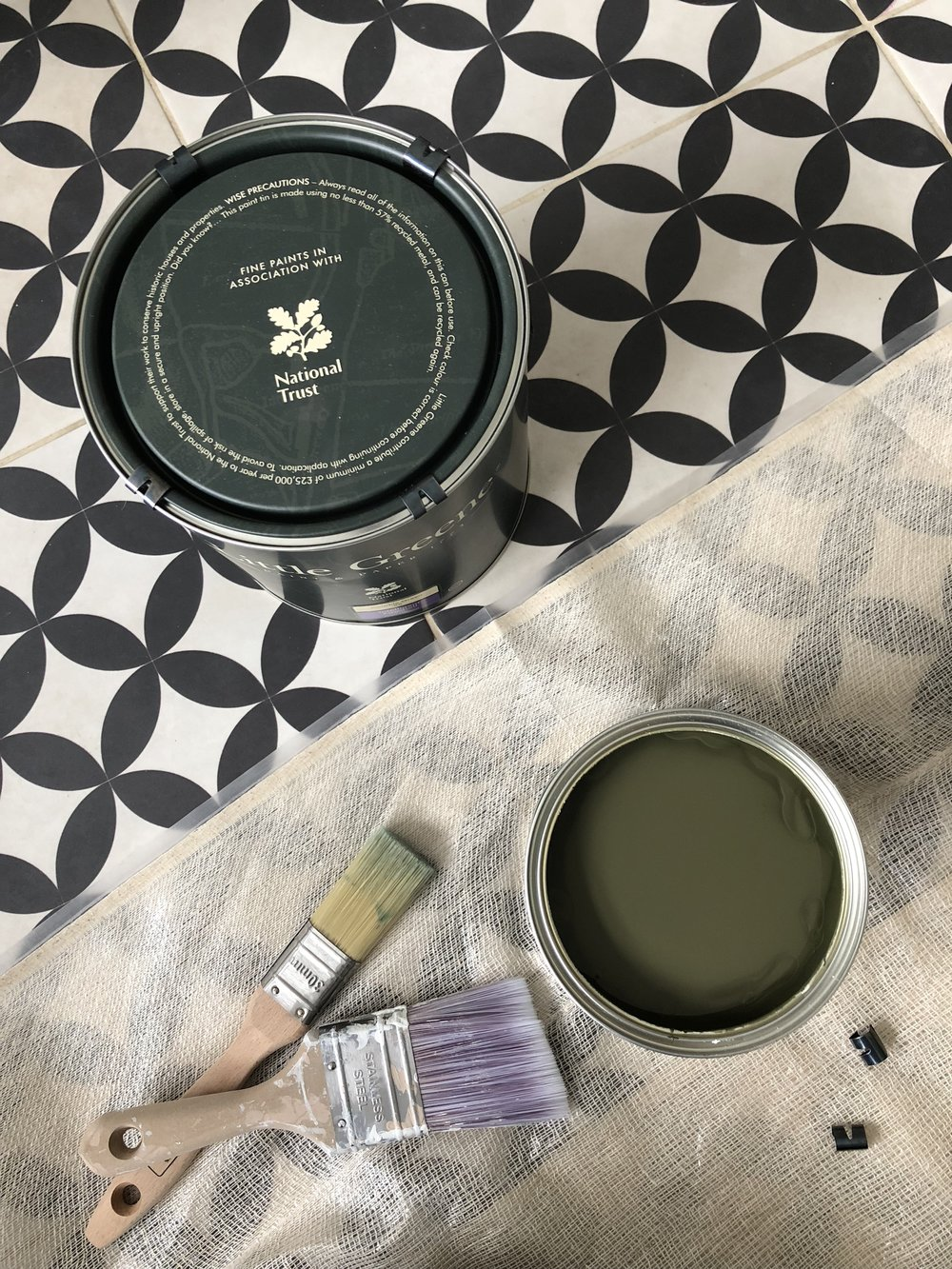 I've not used  Little Greene  before but I was really impressed - its so thick and easy to work with. Only needed two coats and the finish is remarkable, especially on the woodwork