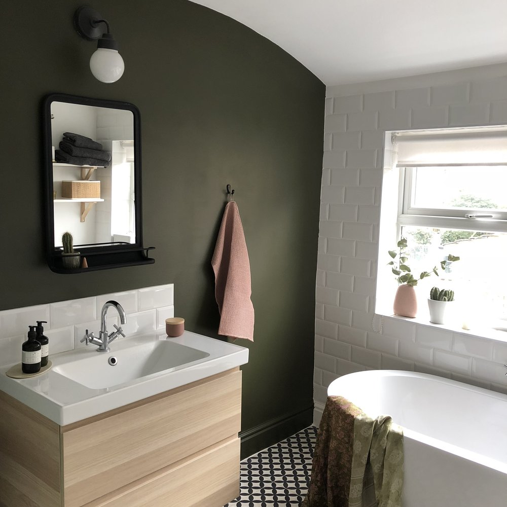 Bathroom update in partnership with Little Greene