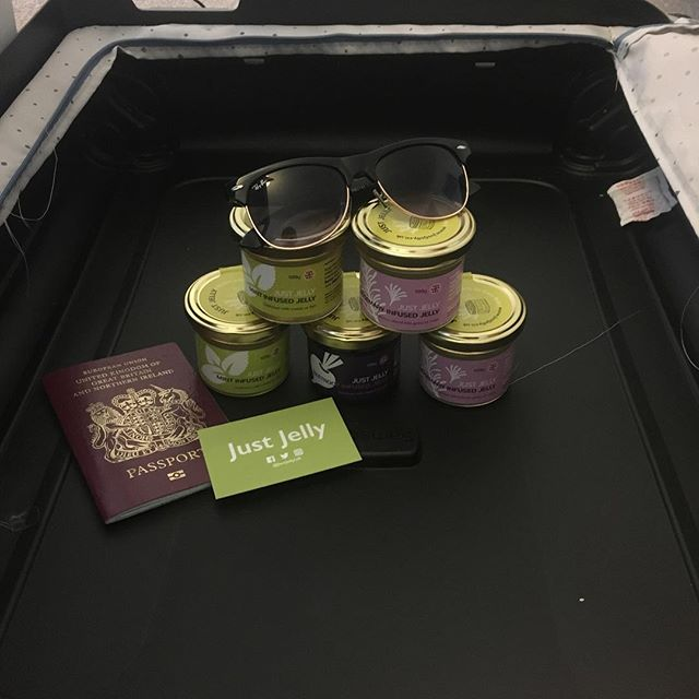 The essentials are packed #Dubai ✌️ • • #dubai #trademission #dit #internationaltrade #uae #gulf #gulfood #foodexport #foodstartups #startup #sme #business #work #worklife #travel #worktravel #love #lovewhatyoudo #justjelly #rayban #uk #export #britishproducts #britain