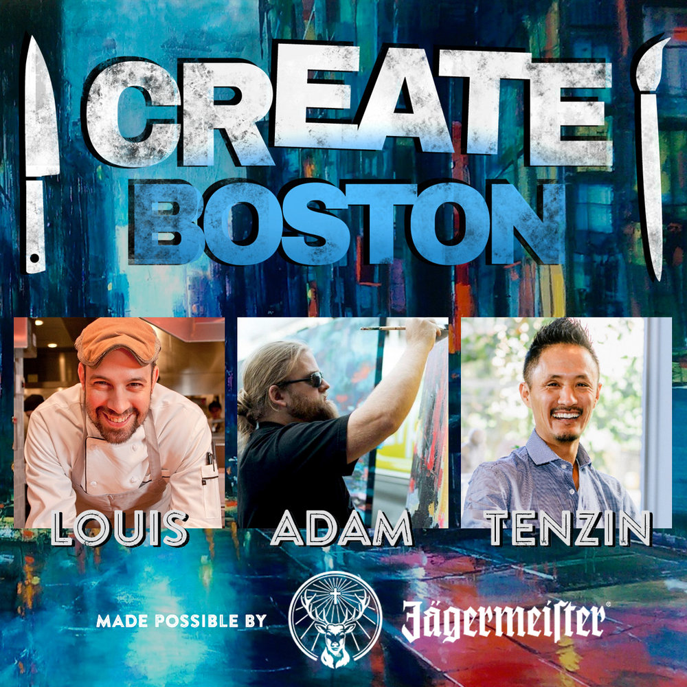 Create Boston Pop-Up @ Lamb Jam   Create Boston mastermind Louis Dibiccari, painter Adam O'Day and cocktail legend Tenzin Samdo are collaborating on a live-art, food and cocktail experience made possible by Jagermeister.