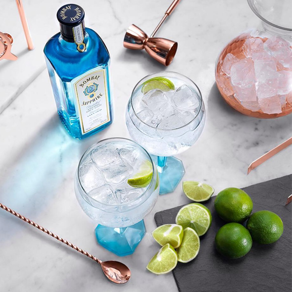 A World of Flavors   by Bombay Sapphire   Bombay Sapphire is geared up to help you craft a cocktail perfect for your palate. Smoked Negronis, Mules and more can all be customized with Bombay's bitter & garnish bars.