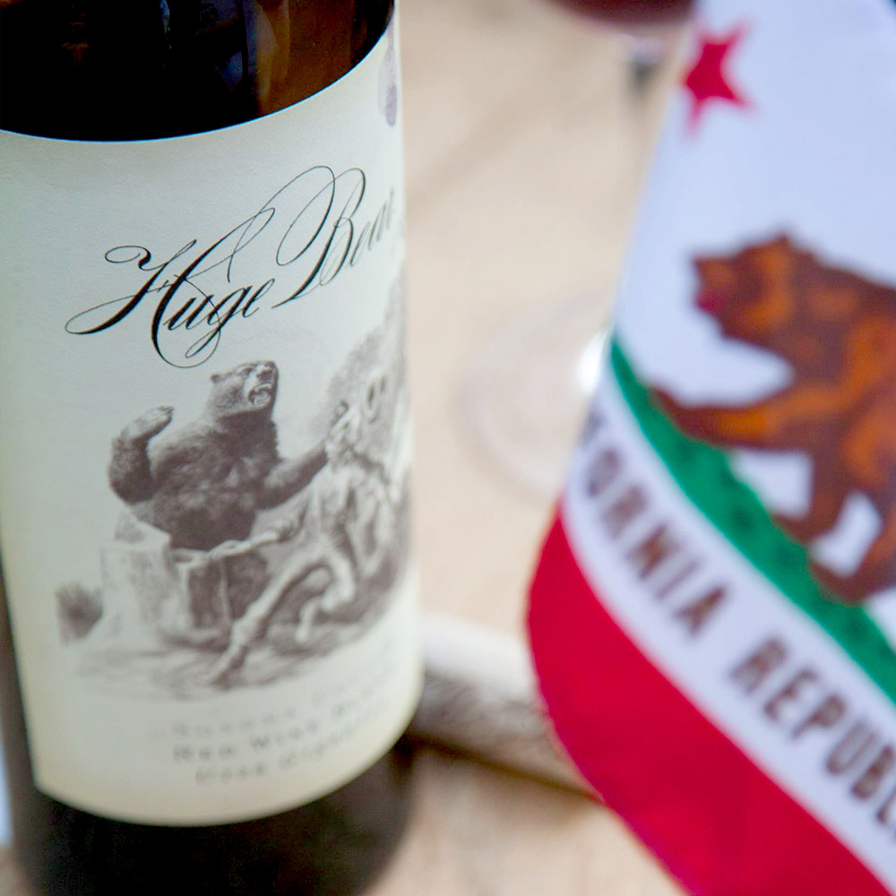 Exciting Wines   with Huge Bear   Quaff exceptional, hand-crafted, small-lot wines inspired by California's rich history and the adventurous spirit of the west.