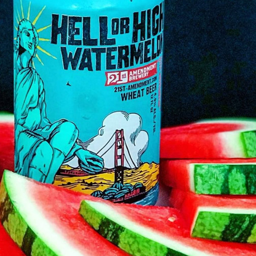 Watermelon Brews   from   21st Amendment   21A will be on hand serving up their one and only watermelon wheat along with a variety of other quaffable brews.