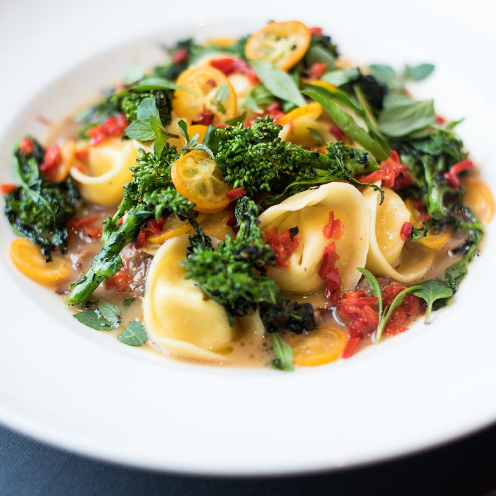 Best in ShowPeople's ChoiceBest Mediterranean - Neck Sugo with burrata tortelloni, broccoli rabe, fresno chile Chef Jacob Weaverformerly of Juliet Italian Kitchen