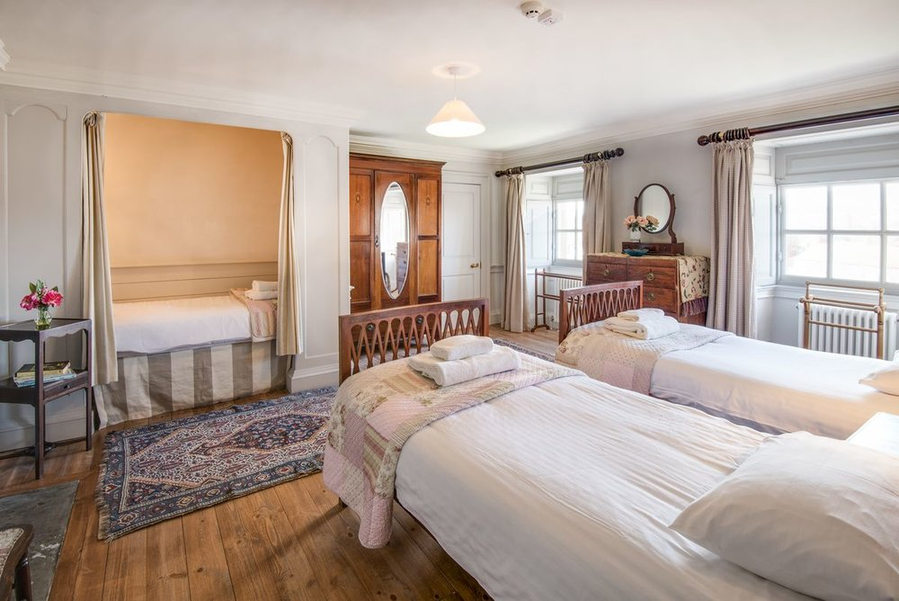 £315 per bed for 3 nights (3 sharing a room)