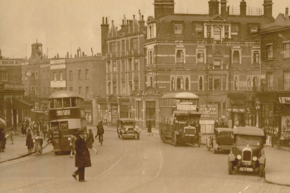 Traffic comes to Blackheath. 1930s.