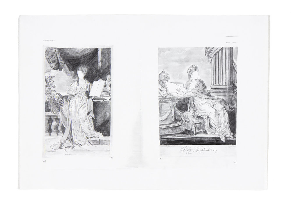 Muses and Sibyls , 42 x 60cm, (pencil on blotting paper)