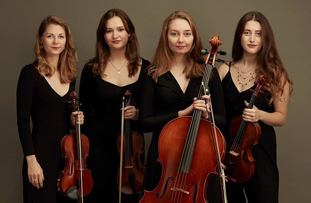 I'm saddened to inform you that... I didn't shoot any BTS. What have I done!?!? • Portrait of the Royal Birmingham Conservatoire Quartet, Holly Coombes, Leonie Jones, Lucy Armstrong & Jo Cartwright.