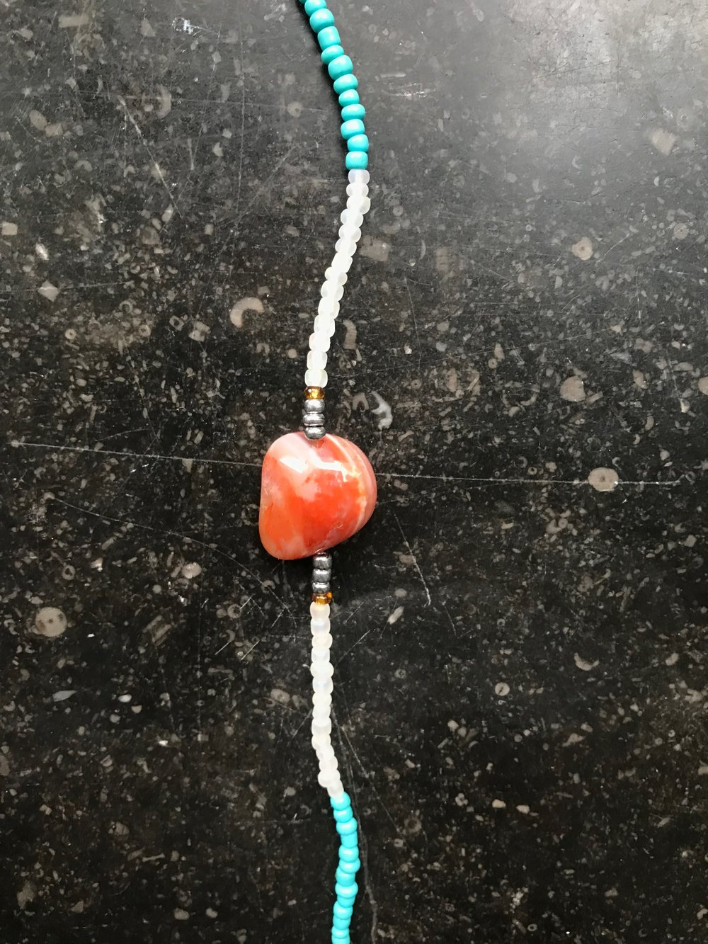 SOLD  Red Agate Crystal Bracelet - 250kr    Charged with unconditional love