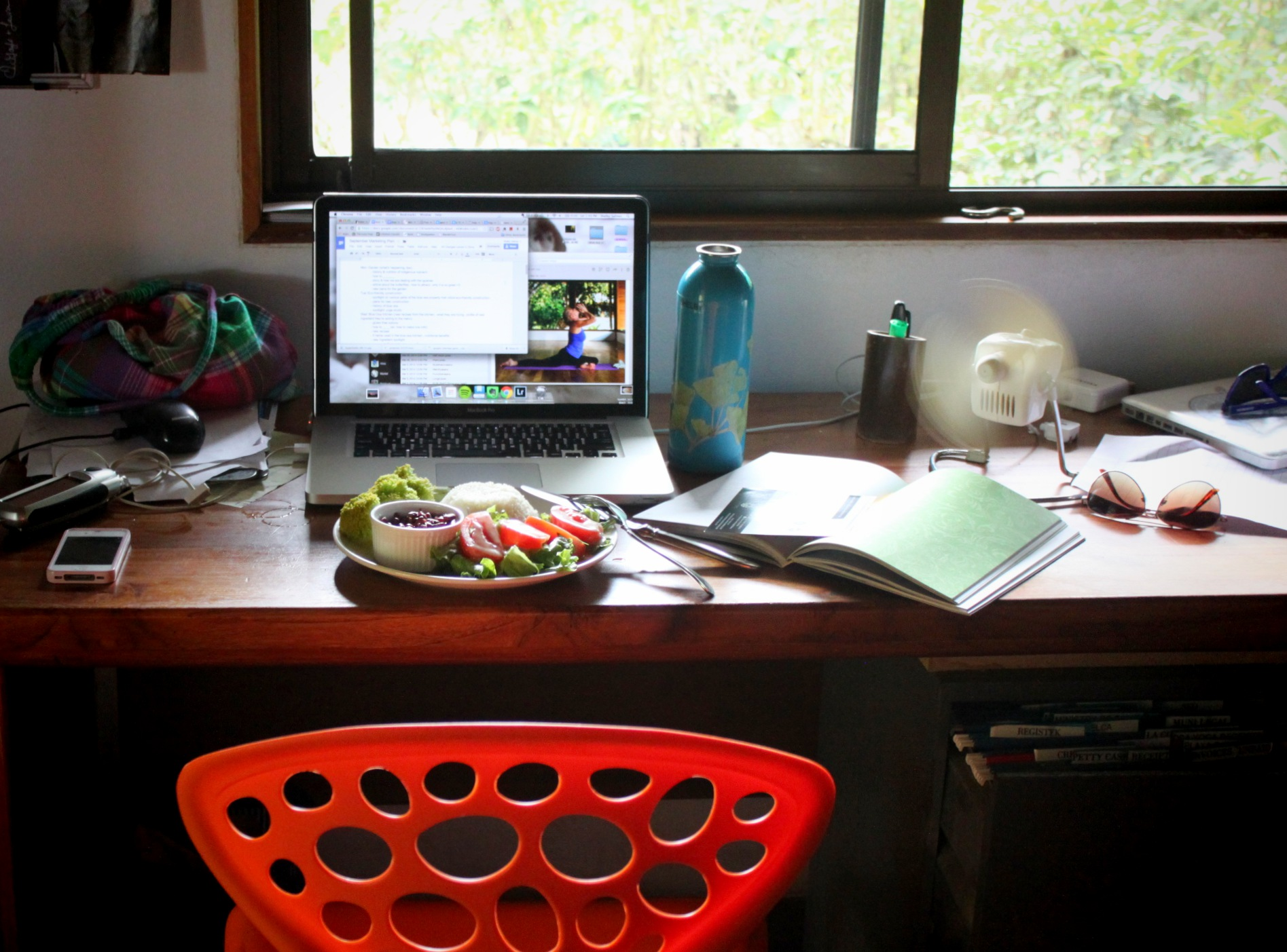 Desk and Salad