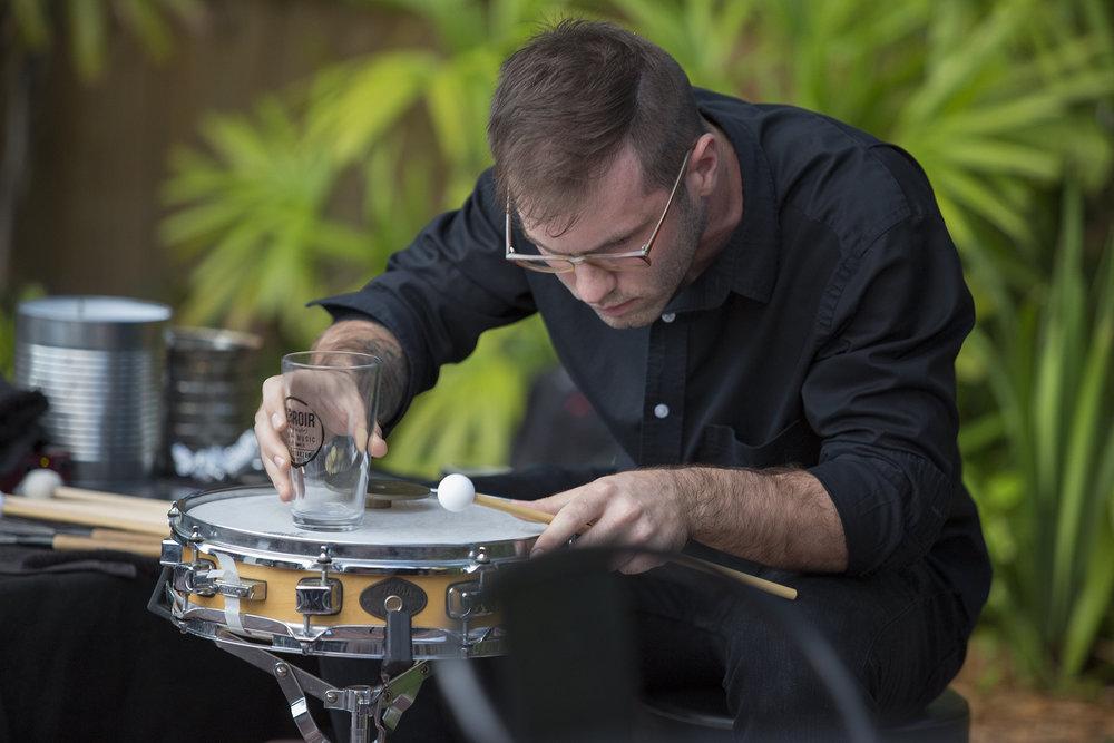 Sean Hamilton performing during Terroir001.   Photo credit: Daylina Miller