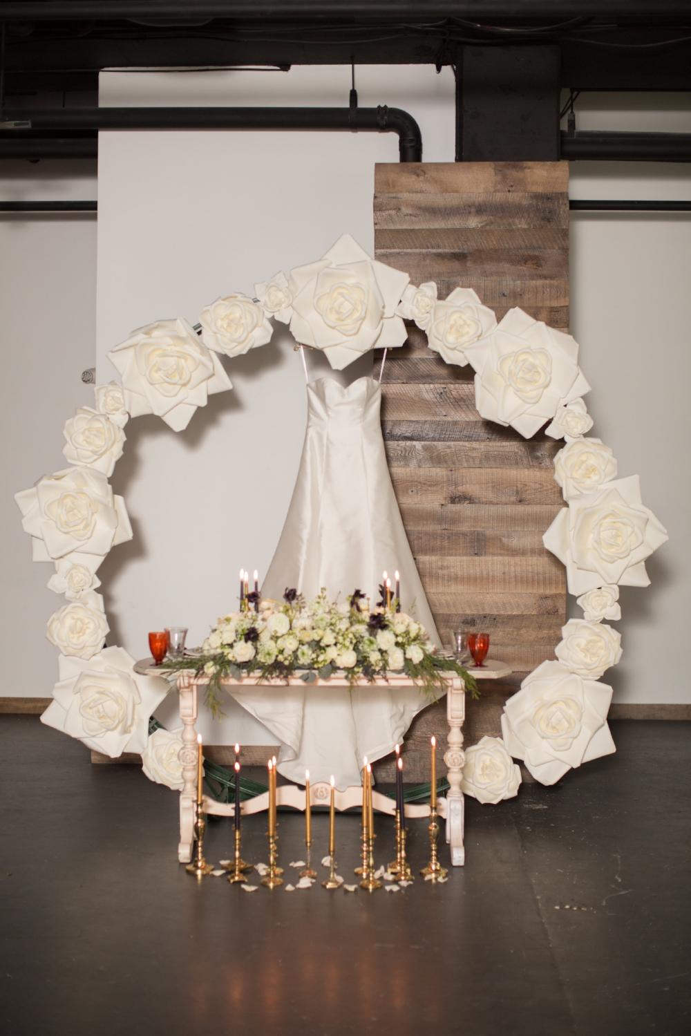 Custom Arch with Silk Flowers -
